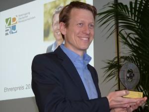 Columbus Ehrenpreisträger der Vereinigung Deutscher Reisejournalisten (VDRJ) Prof. Dr. Harald Zeiss, Leiter des TUI Umwelt-, und Nachhaltigkeits-Managements. (Foto: Lilo Solcher)