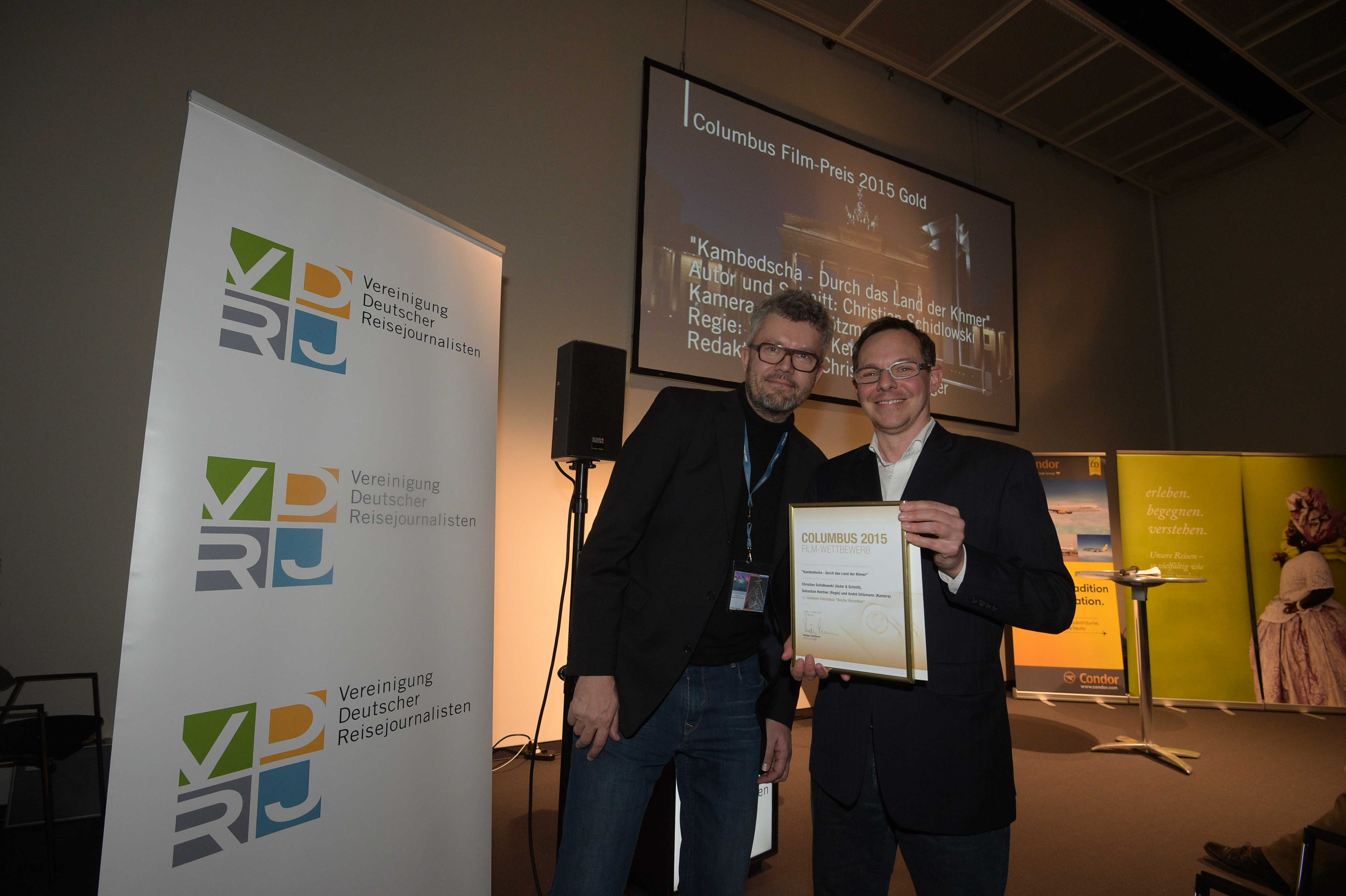 Columbus Film Preisverleihung 2015 Gold Christian Schidlowski ZDF Arte Thomas Radler web