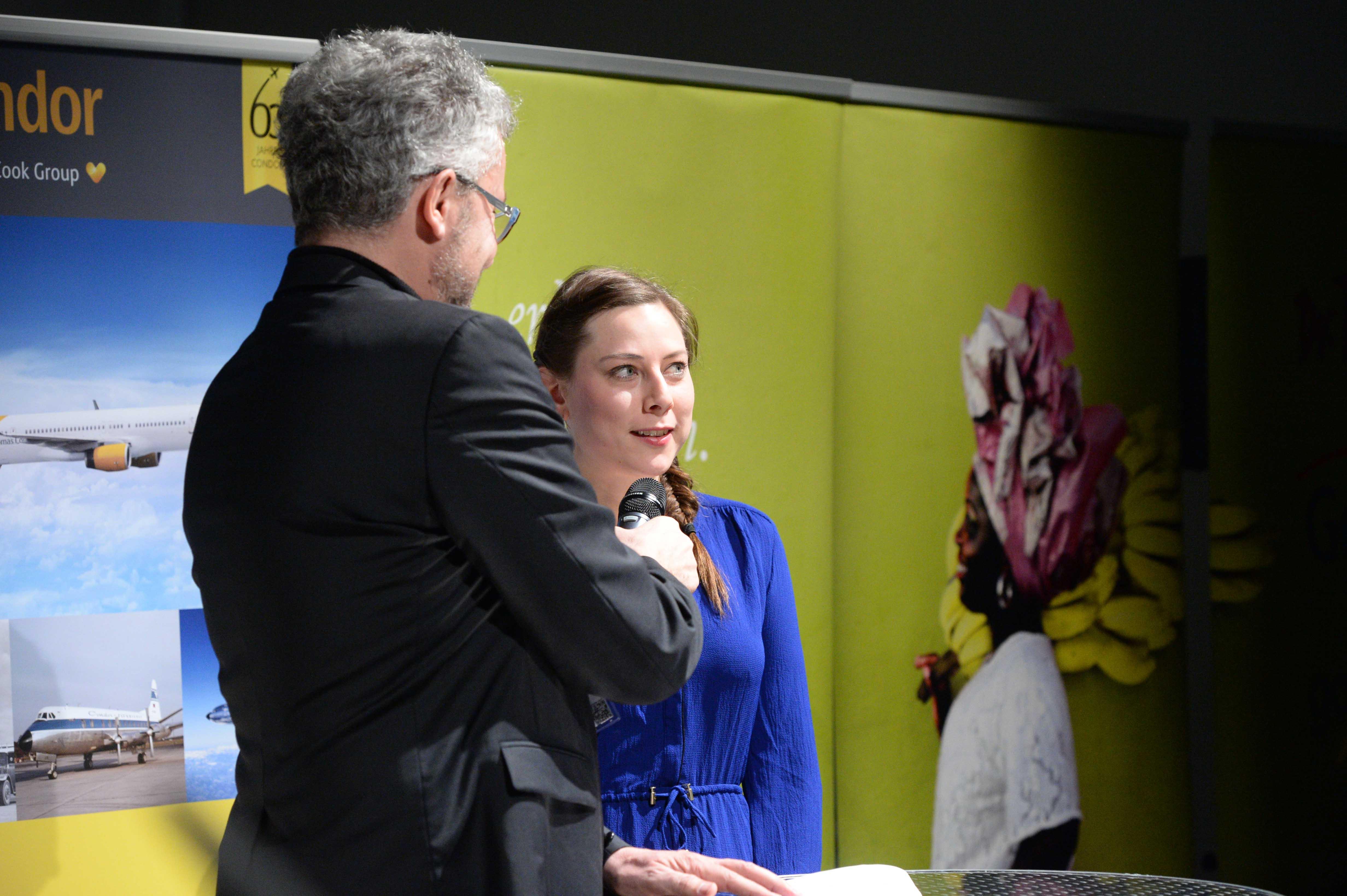 Columbus Film Preisverleihung 2015 Silber Ines Seiter BR Talk mit Thomas Radler web
