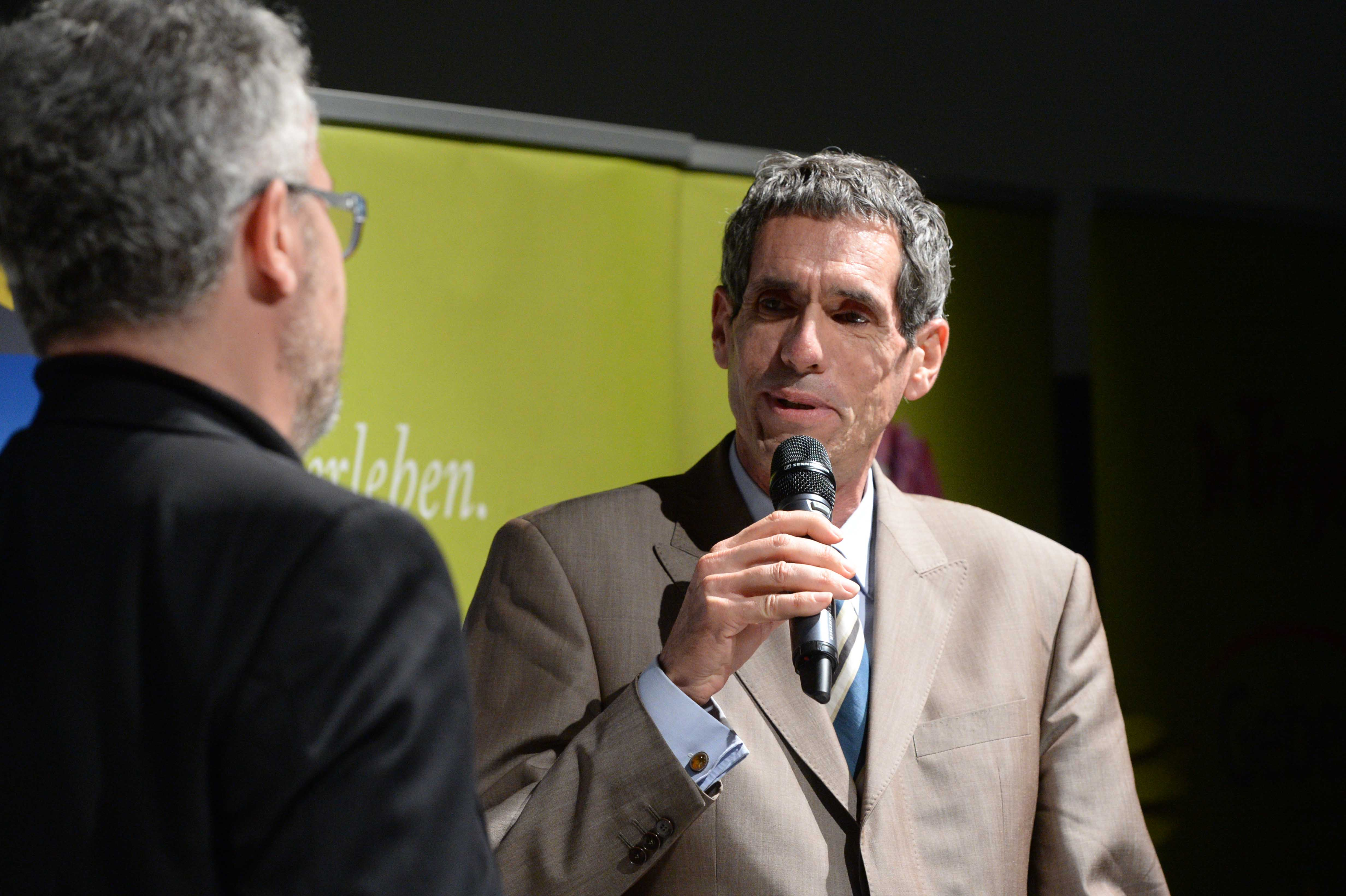 Columbus Film Preisverleihung 2015 Silber Juergen Drensek Talk mit Thomas Radler web