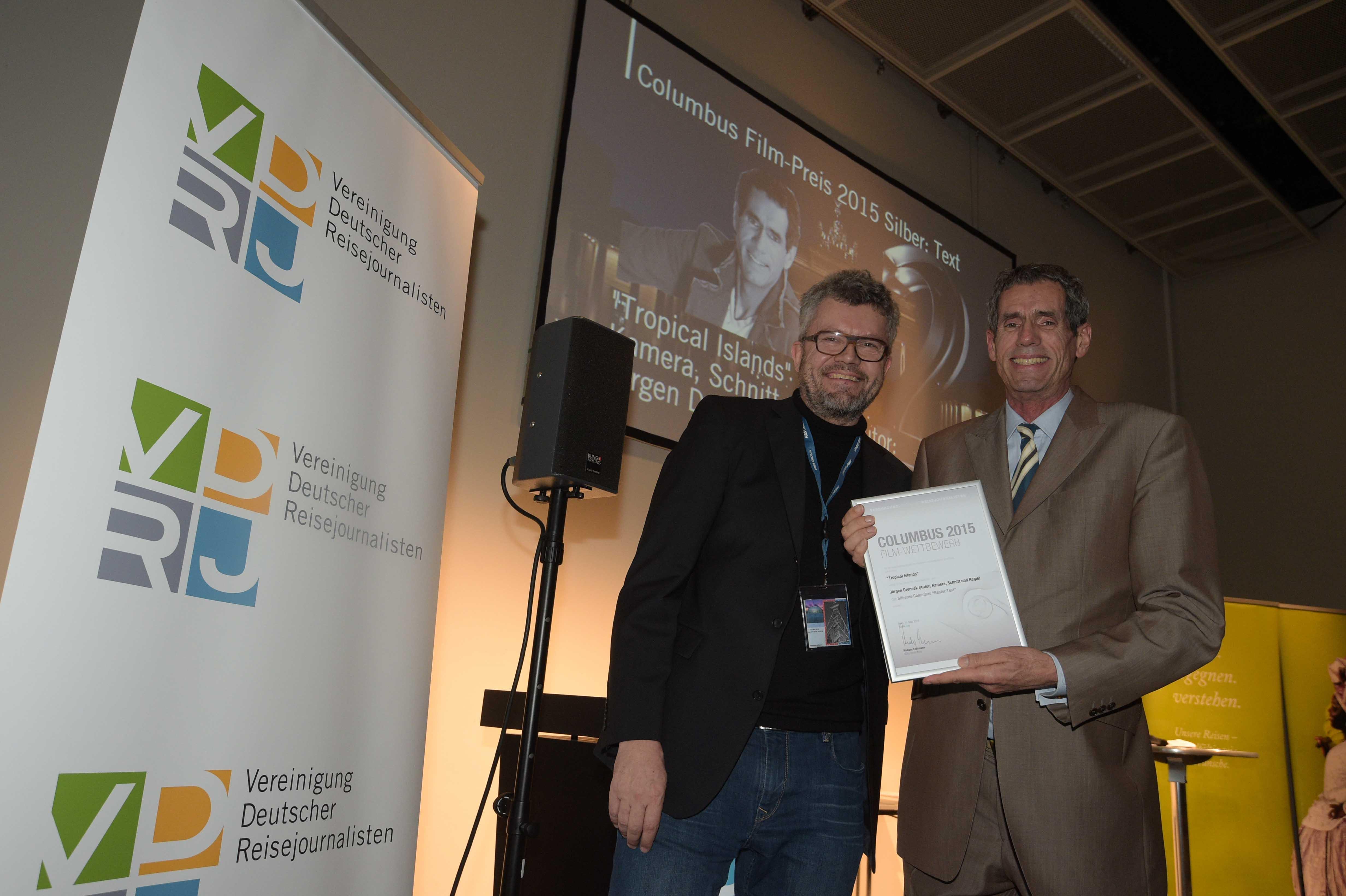 Columbus Filmpreis  2015 Silber Juergen Drensek Thomas Radler web