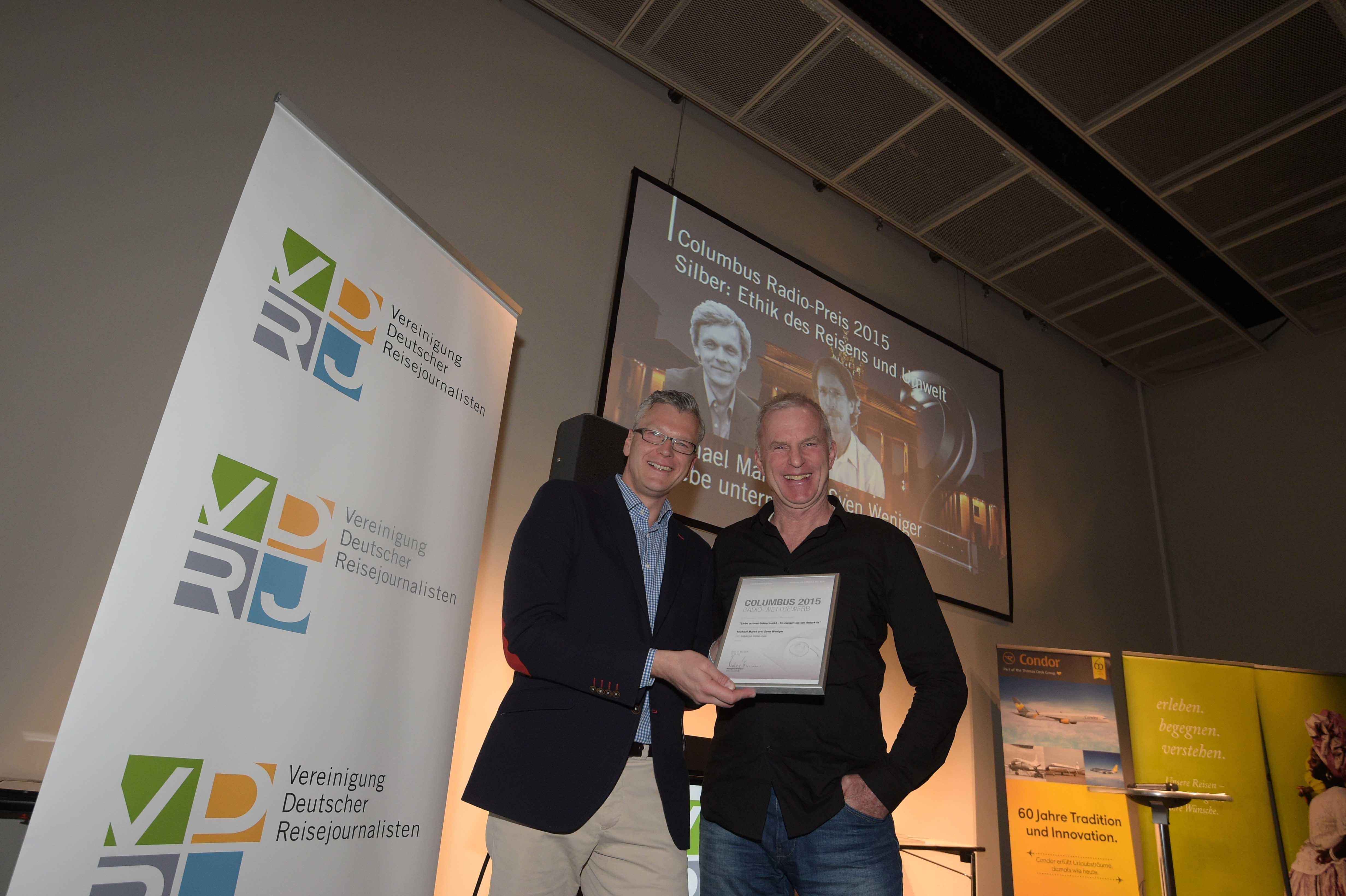 Columbus Radiopreis  2015 Silber Andreas Stopp Holger Wetzel