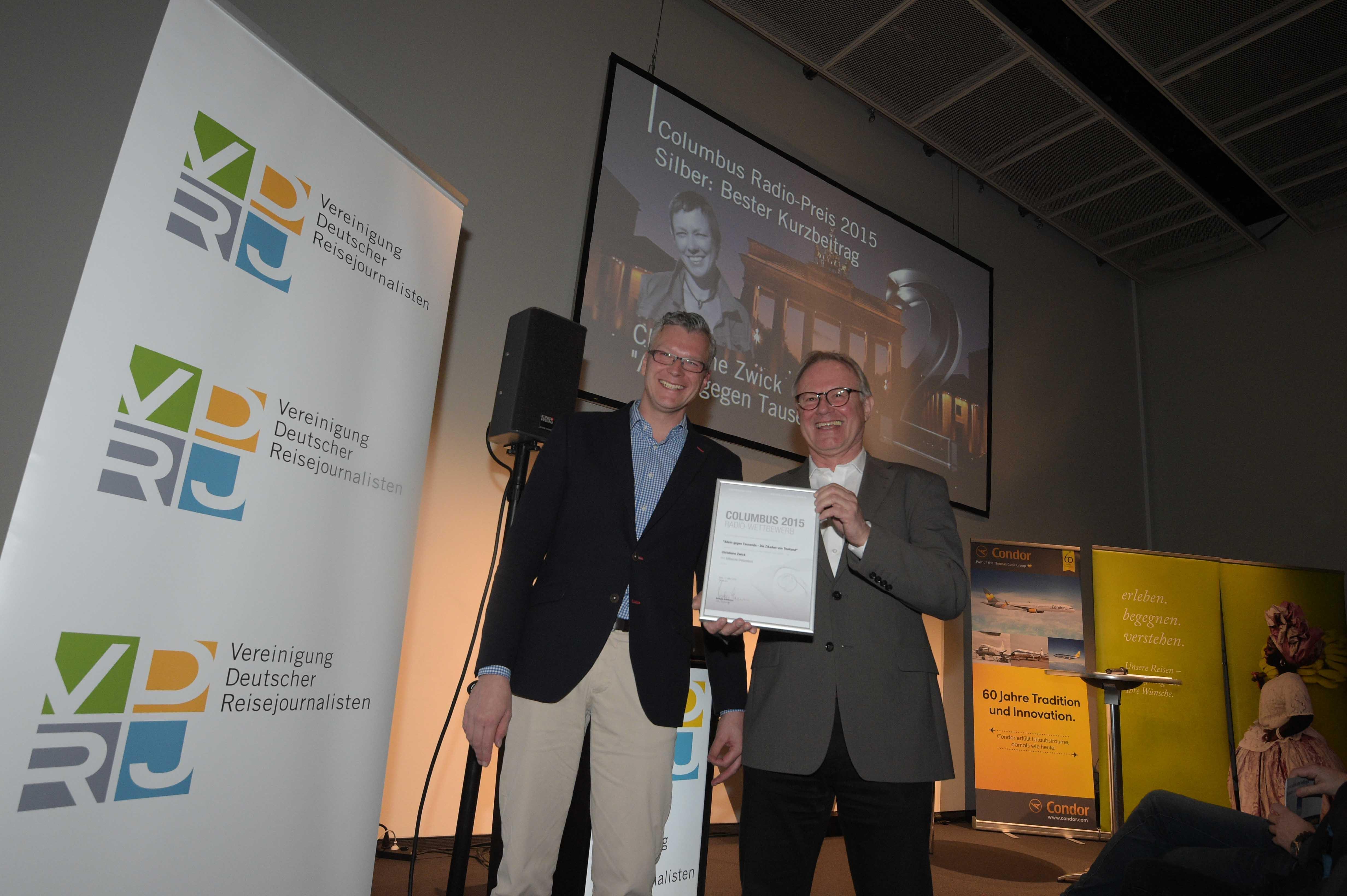 Columbus Radiopreis 2015 Silber Wolfgang Heinemann Holger Wetzel