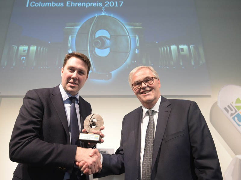 Preisverleihung an Markus Tressel Columbus Ehrenpreis 2017