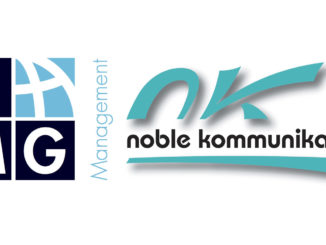 Logos LMG Management und noble kommunikation