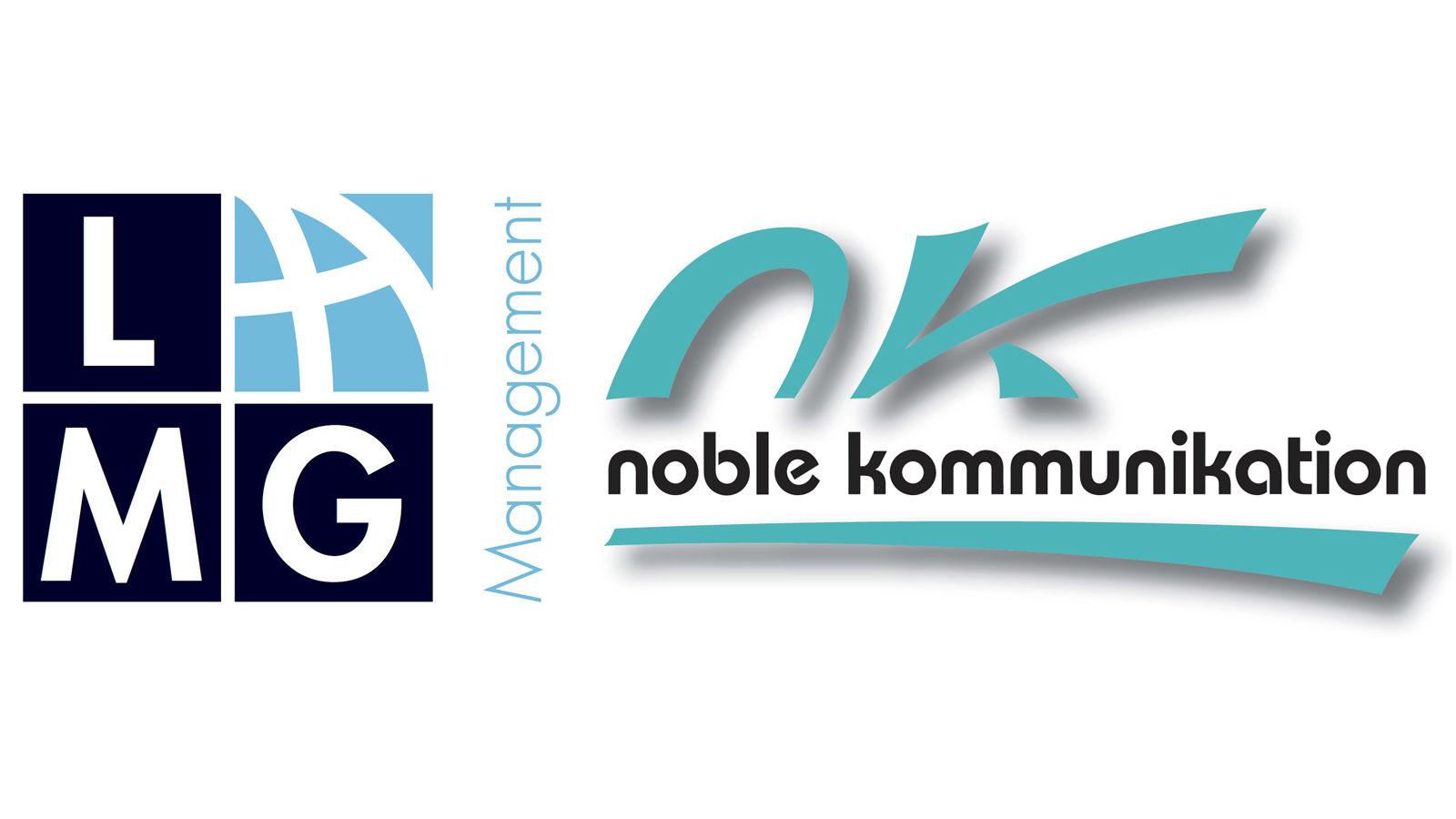 Logos LMG Management und noble kommunikation