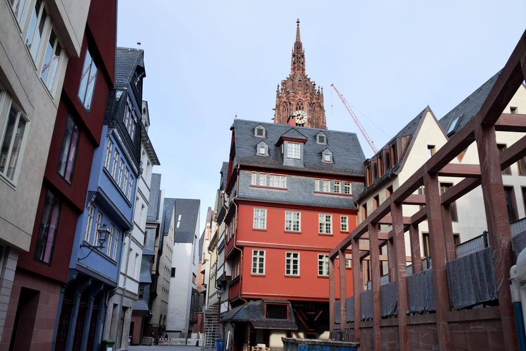 Rotes Haus und Schirn © Rüdiger Edelmann