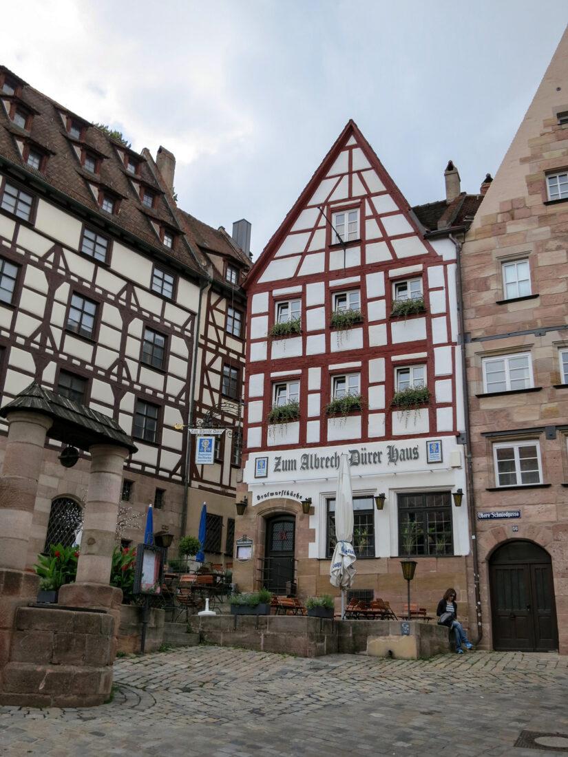 Nürnberg beim Dürerhaus; Foto: Eva Maria Mayring