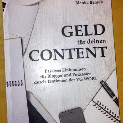 Buchcover Geld für Deinen Content