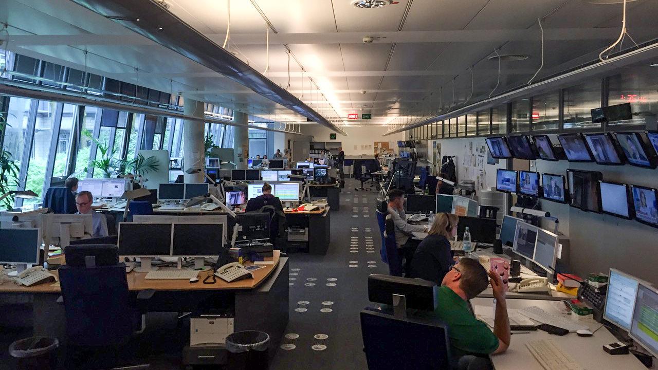 Redaktion von Tagesschau / ARD Aktuell in Hamburg (Foto: Hektor Haarkötter)