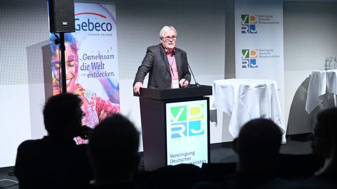 VDRJ-Columbus Radiopreis: Rüdiger Edelmann, Preisgeschäftsführer und 1. Vorsitzender der VDRJ; Foto: Messe Berlin