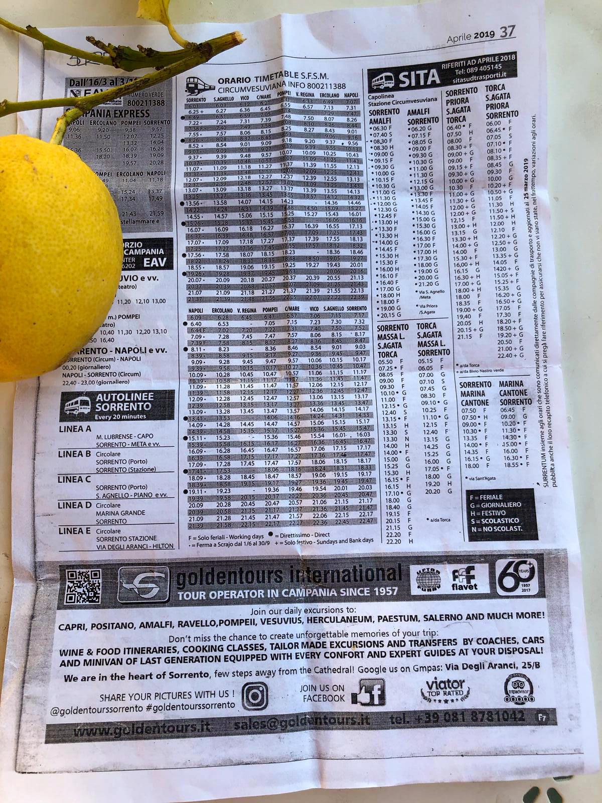 Fahrplan für Touristen: Hoffen, dass der Bus kommt (Foto: Uwe Krist)
