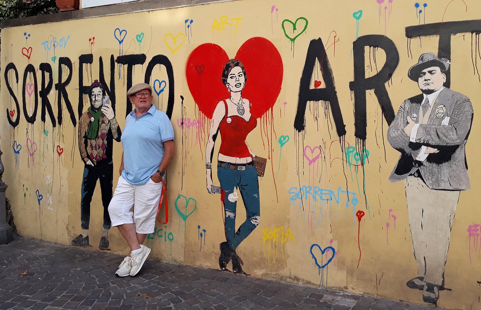 Italienische Idole: Immer an der Wand lang (Foto privat)
