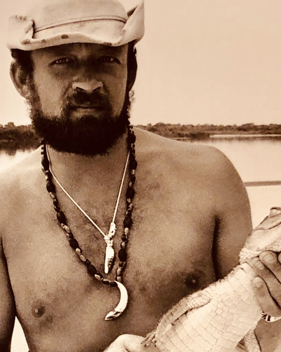 Autor Uwe Krist als moderner Robinson Crusoe im Jahre 1975