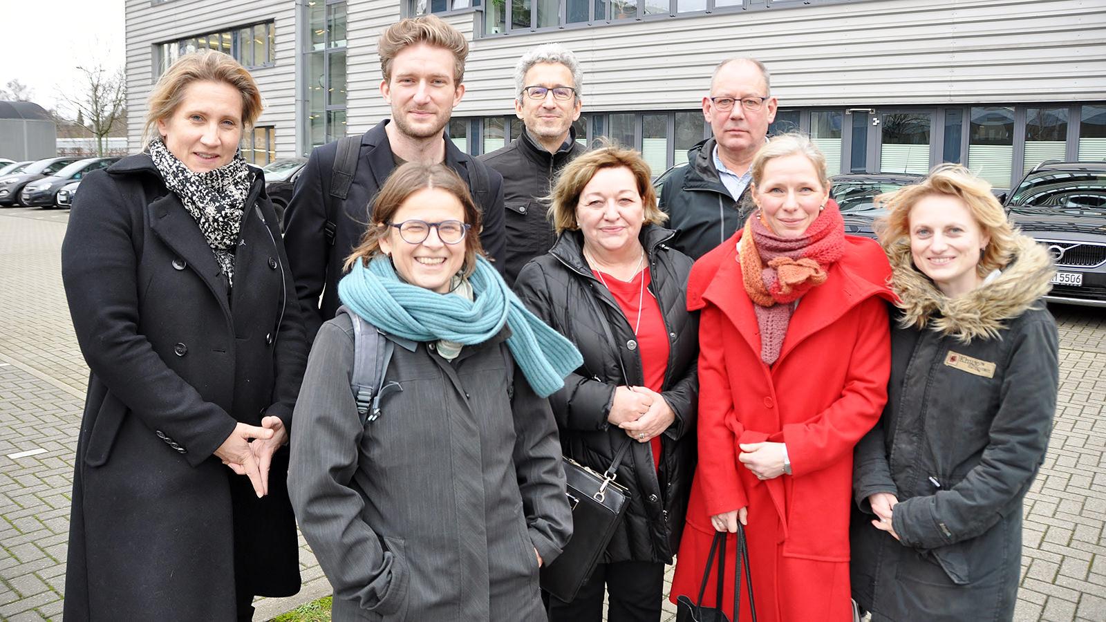 Der Großteil der Autorenpreis-Jury; Foto: Mona Contzen
