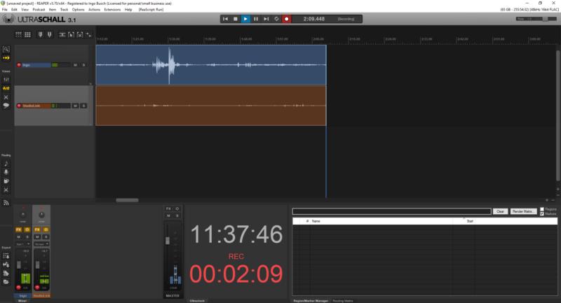 Ultraschall - Software von und für die Podcast-Community (Screenshot: Ingo Busch)