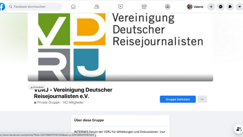 Die Facebook-Gruppe des VDRJ ist nur für Mitglieder zugängig. Der Status der Gruppe ist privat. Das bedeutet, die Inhalte, die dort veröffentlicht werden, sind von außen nicht sichtbar. Gruppenmitglieder können liken und kommentieren, aber die Posts nicht außerhalb der Gruppe teilen. (Screenshot: Valerie Wagner)