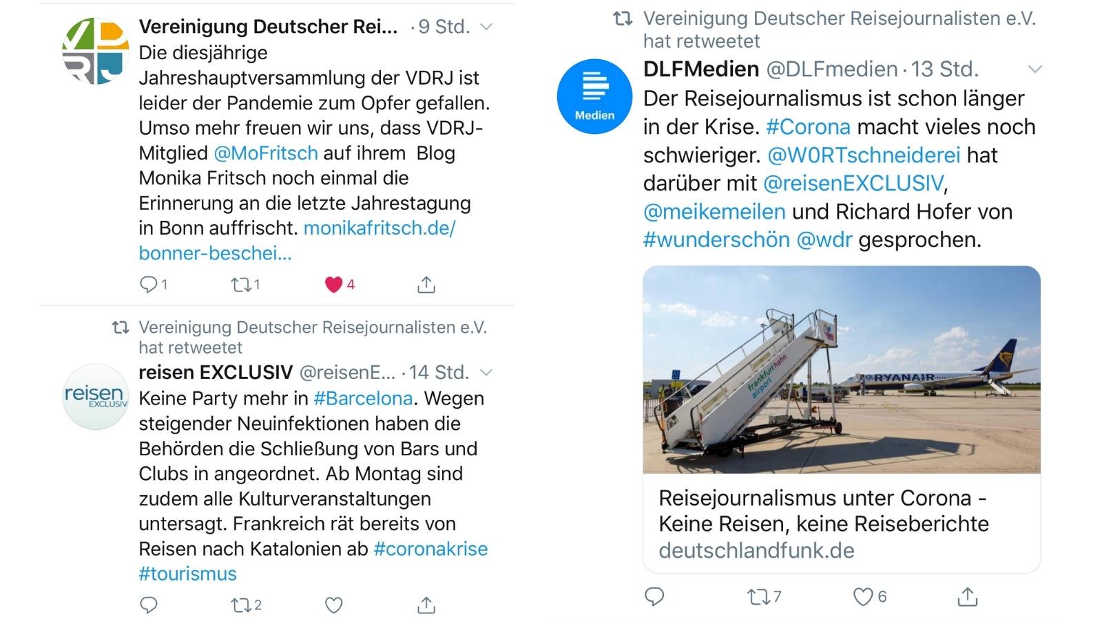 Durch das Taggen von anderen Accounts erreicht ein Tweet eine höhere Reichweite und Sichtbarkeit, Der markierte Account wird über die Notifications benachrichtigt. (Screenshot: Valerie Wagner)