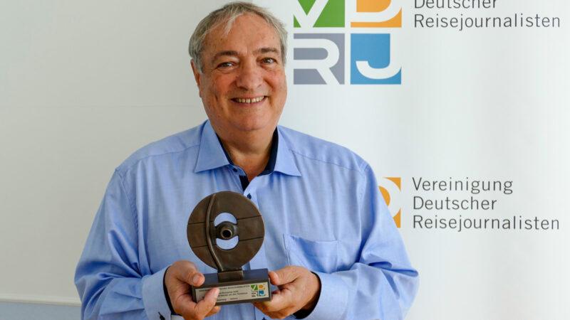 Ury Steinweg, Träger des Colubmus-Ehrenpreises 2020 der VDRJ