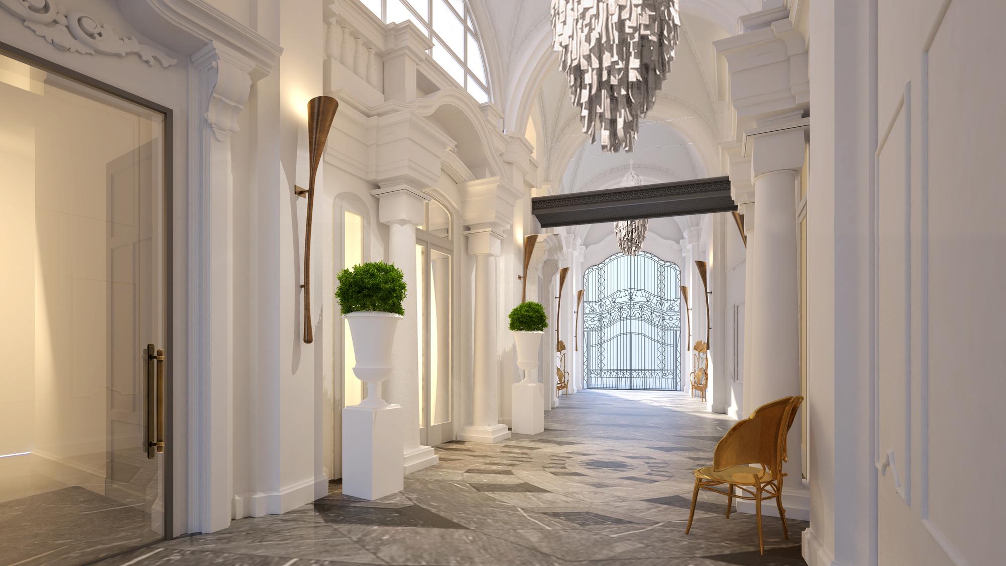 Matild-Palace,-a-Luxury-Collection-Hotel,-Budapest_Historische-Passage_(…