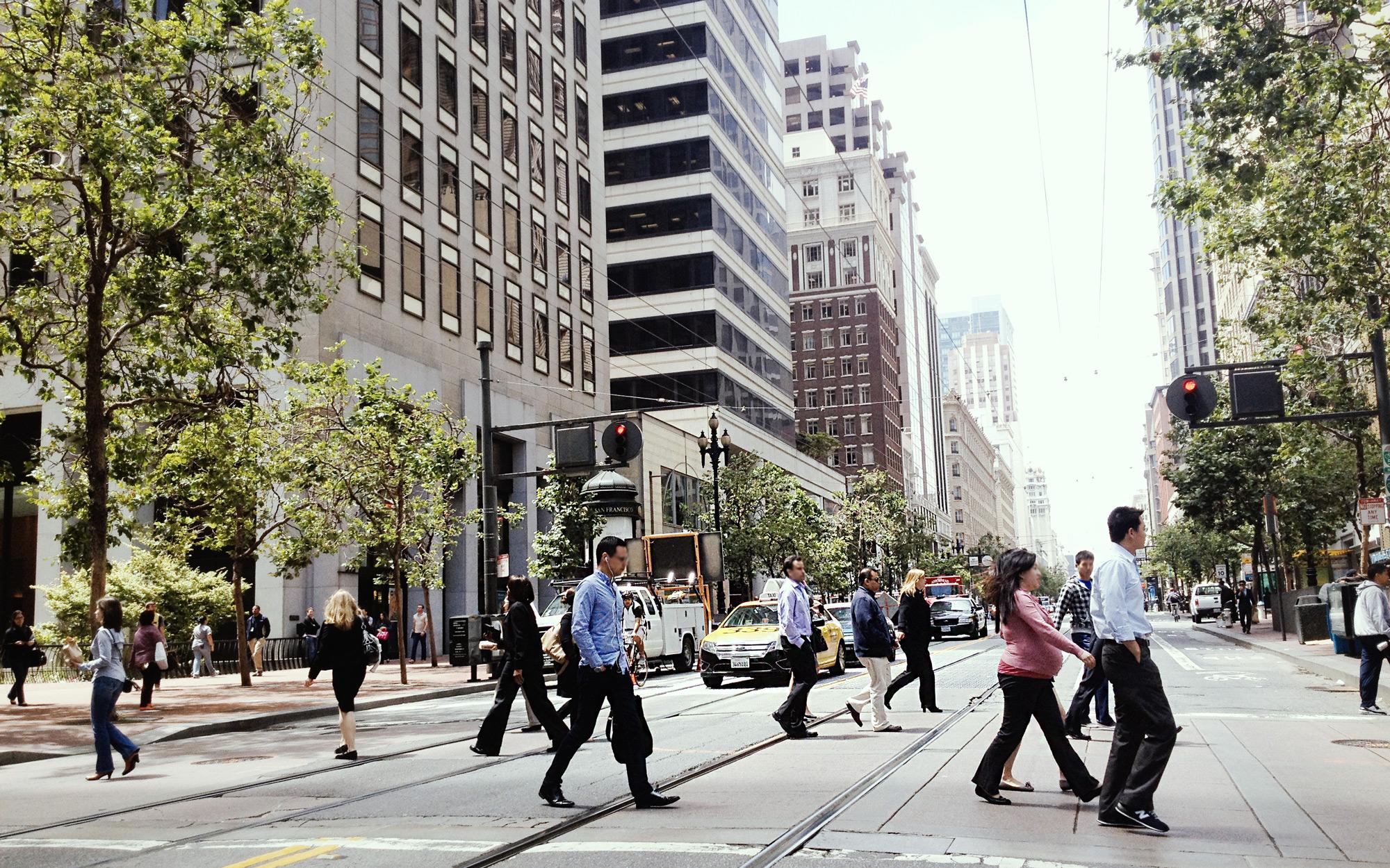 Straßenszene in San Francisco - Foto: Charis Stank