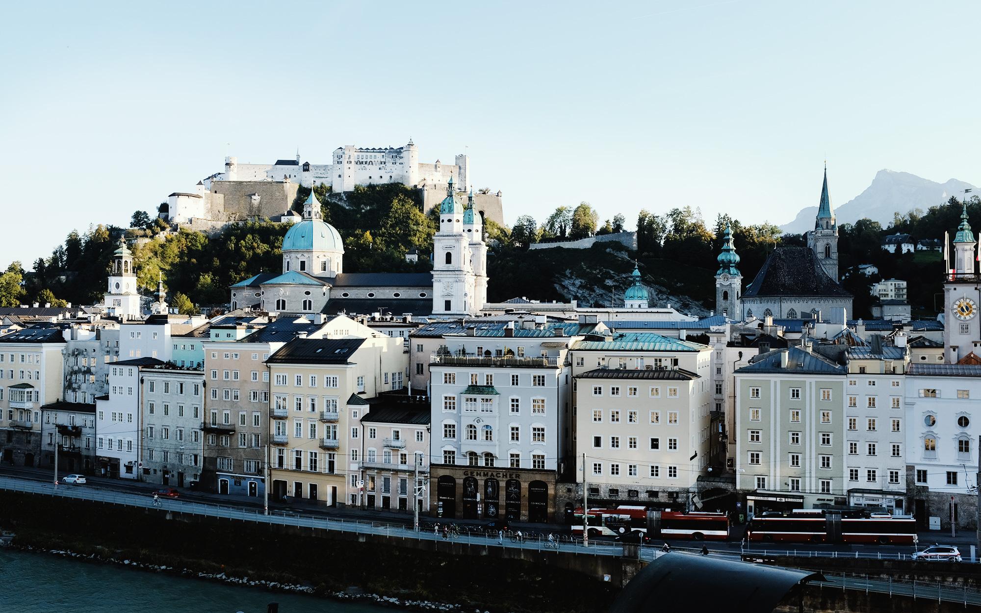 Panorama von Salzburg mit der Festung Hohensalzburg (Foto: Charis Stank)